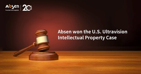 AbsenがUltravisionとの特許紛争で勝訴
