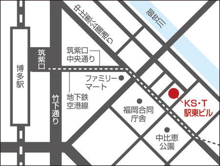 福岡ショールーム地図