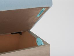 収納付きは座面裏側に指挟み防止のガイド付