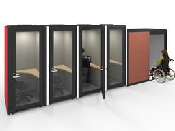 バリアフリー対応の麗澤大学キャリアセンターに個室ブースを納入