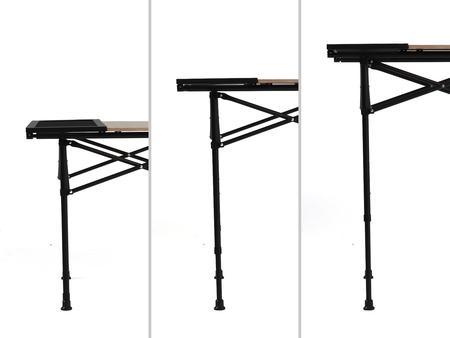 天板高56cm・70cm・80cmと、3段階で高さの調節が可能です。