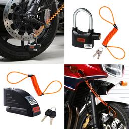 振動感知式アラーム搭載でバイクを盗難から守る「アラームde南京錠」と「アラームディスクロック」発売。
