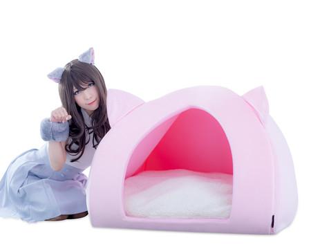 人類の夢「猫になりたい!」を叶える「人間用ペットハウス」を発売。