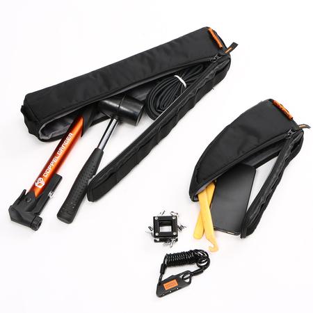 3つのバッグで構成されているので、荷物の大きさによって入れるバッグを選べます。