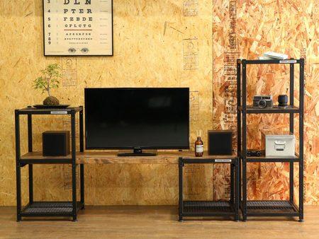 単体又は組み合わせてテレビ台やラック、本棚として使えるハーフDIYファニチャー「アイキュー」を発売。