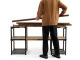 幅や高さ、棚板を自分好みに簡単にアレンジできるハーフDIYファニチャー「アイキュー」。