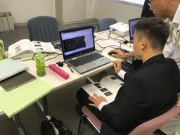2018年夏に実施したインターンシッププログラムの模様(株式会社石野製作所)