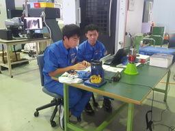 2018年夏に実施したインターンシッププログラムの模様(株式会社山本金属製作所)