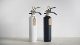 「+ 住宅用消火器」。カラーは、ホワイトとブラックの2種類。