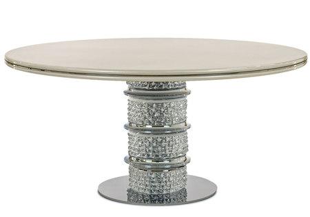パール塗装が美しい「クリオ」ダイニングテーブル