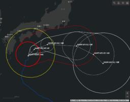 台風解析・予報情報