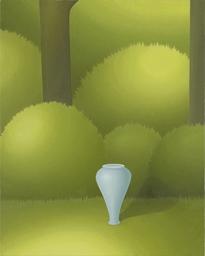 小林孝亘「Inverted Vessel」oil on canvas 100.3×80.2cm 2015 撮影:渡邉郁弘