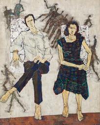 《M氏夫妻の肖像》 1981 年 撮影:稲口俊太