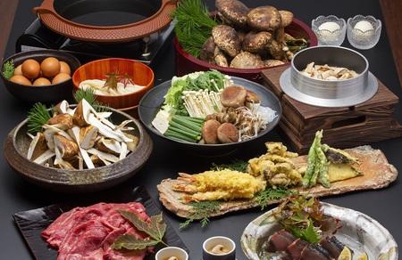 京都和牛と松茸すきやき食べ放題