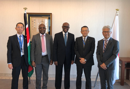 Kenyan Ambassador Visits Nippon Express Head Office