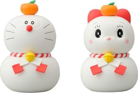ドラえもんドラミちゃん鏡餅フィギュアセット(小)