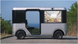複合商業施設において遠隔運転で動く車両に店舗の動画広告を5Gで配信する実証実験実施