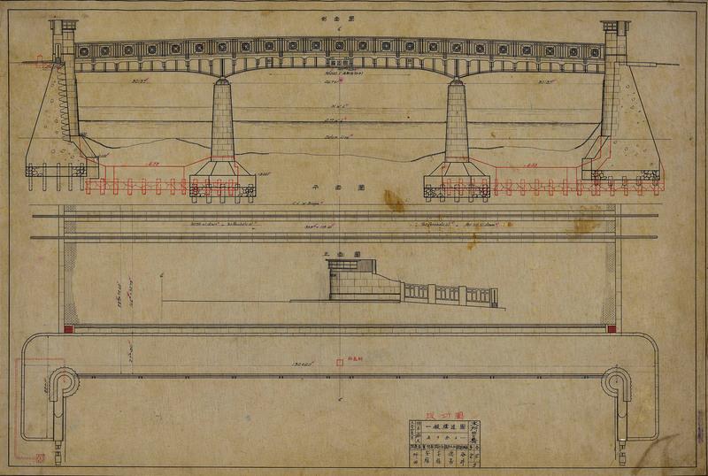 「本所四之橋 一般構造図(施巧図)」東京都建設局所蔵