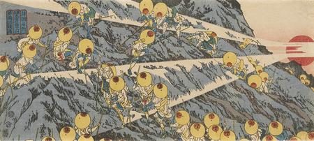 魚屋北溪「諸国名所 駿州大宮口登山」(後期) 茂木本家美術館蔵