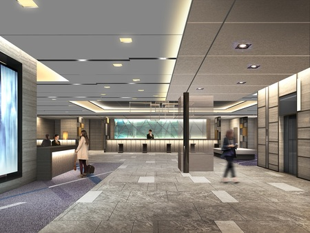 ホテルグランヴィア大阪 19階 新フロント・ロビー イメージパース2