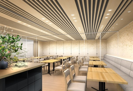 ホテルグランヴィア大阪 19階なにわ食彩「しずく」 店内イメージパース