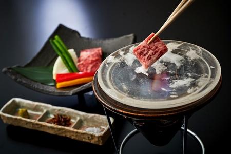 ホテルグランヴィア大阪 19階日本料理「大阪 浮橋」 大阪産黒毛和牛「なにわ黒牛の水晶焼き」