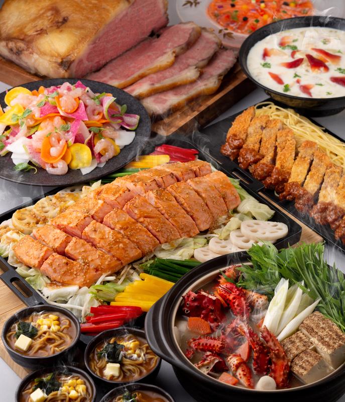 北海道と北の恵み至福の冬グルメ ランチ ディナーバイキング料理イメージ