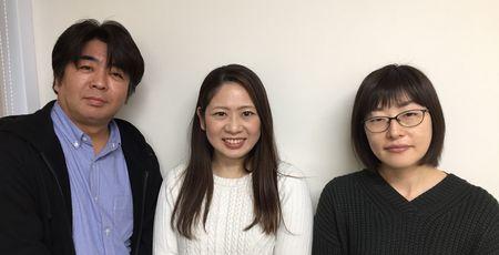 商品開発メンバー 左から笠原、坂田、丹野