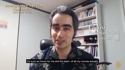 ドキュメンタリー部門金賞、鳴鳳堂大賞を受賞した「Coexist」のイラン人監督Komeil Soheiliによるコメント