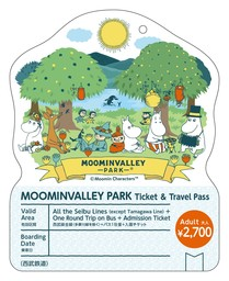 "SEIBU Railway Selling ""MOOMINVALLEY PARK Ticket & Travel Pass"" for Foreign Visitors"