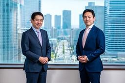 日本ユニシス株式会社 代表取締役 専務執行役員 CMO 齊藤昇、株式会社ギックス 代表取締役 CEO 網野知博