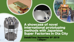 A showcase of novel international prototyping methods with Japanese Super Factories in Ota City