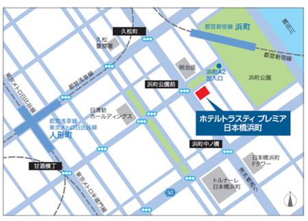 トラスティプレミア日本橋浜町MAP