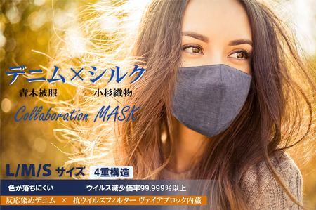 日本を代表する繊維産地企業がタッグを組んだ国産「デニム×シルクマスク」を発売