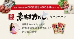日本全国おいしい食旅行をしませんか? 「素材力だし」®がご当地グルメの美味しさを応援!